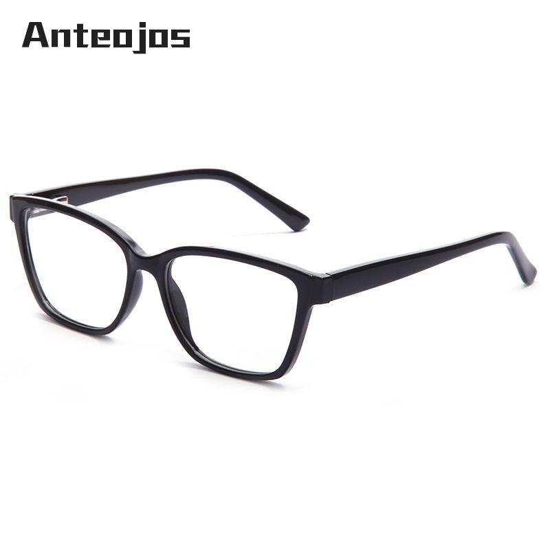 04dcc9c9117 ANTEOJOS Spring Hinge Eyeglass Frames Man Women 2019 New Solid Color ...
