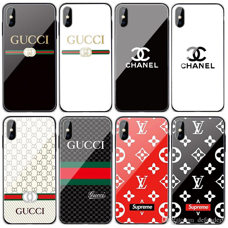 High Quality Tempered Glass Case New Luxury Logo Designer For iPhone XR XS Max 8Plus 6s Samsung S10 S8 Note9 With Retail Package