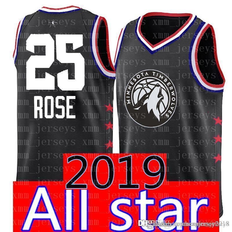 89a30291f3f 2019 2019 Minnesota 25 Derrick   Rose Timberwolves Jersey 23 LeBron James 3  Dwyane   Wade 2 Leonard Bulls 23 Basketball Jerseys From Topmensjersey2018