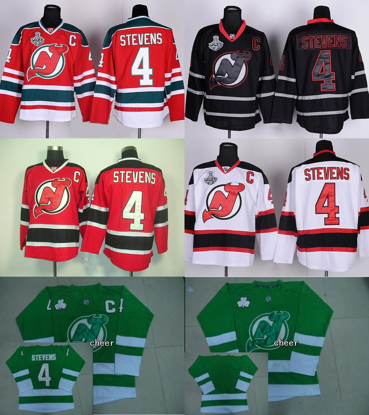reputable site 06bac 5e539 2016 Mens New Jersey Devils #4 Scott Stevens White Red Black Green Blank  Hockey Jersey Good quality free sihipping cheap wholesale prices