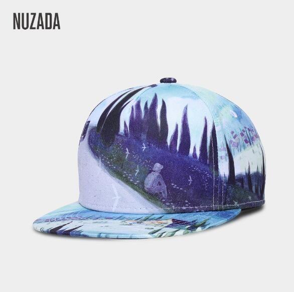 913ad2809d9 Brand NUZADA Abstract Art Men Women Baseball Cap 3D Printing Caps ...