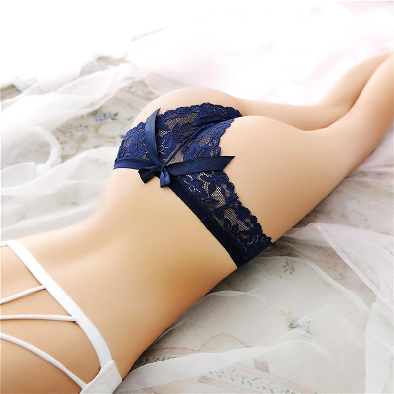 3494aa651 Sexy ropa interior de las mujeres tanga lencería de encaje tanga  calzoncillos sin costuras bragas transparentes bragas negro Tangas Bragas  1515