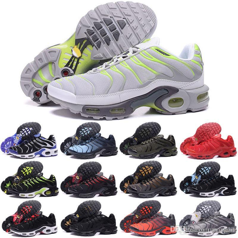 328a0a103ae3 2019 Mens Running Shoes TN Shoes Tns Plus Air Fashion Increased Ventilation  Casual Trainers Olive Red Blue Black Sneakers Chausseures Cheap Running  Shoes ...