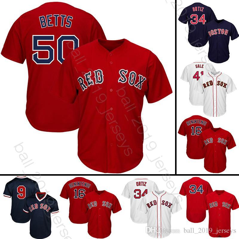 super popular 93f43 8c385 9 Ted Williams 50 Mookie Betts 34 David jersey Red Sox Ortiz jerseys 28 J D  Martinez baseball jerseys
