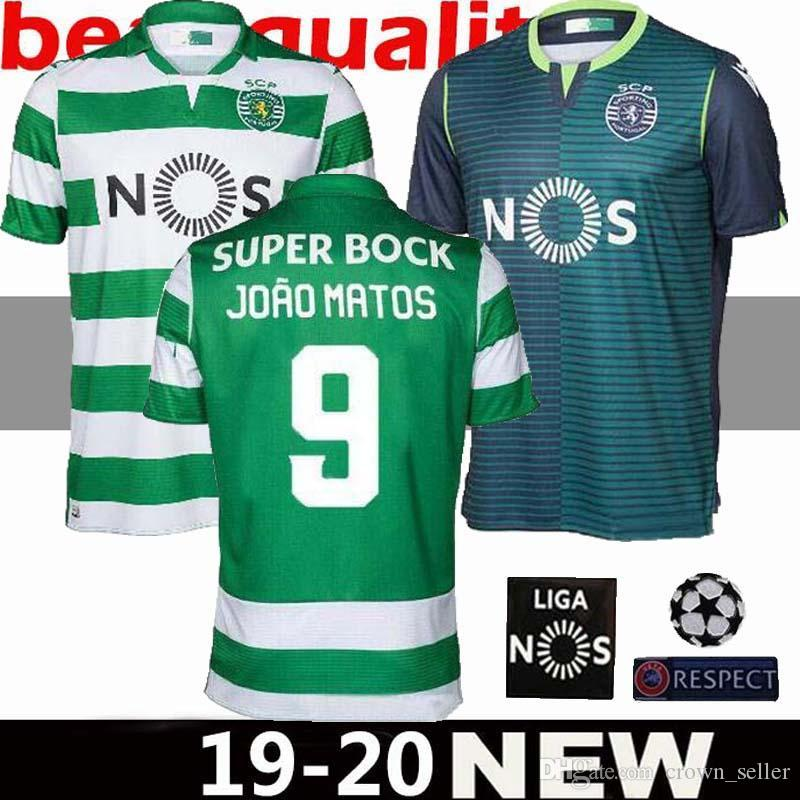 promo code d7882 4b138 Thai quality Sporting home Soccer jersey 19 20 Lisbon Vintage Footbal  Shirts 2019 2020 Ronaldo FERNANDES NANI Camisa de futebol Maillot