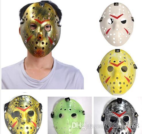 Hockey Mask Halloween Costume Jason Voorhees Scary Horror Mask Friday The 13th