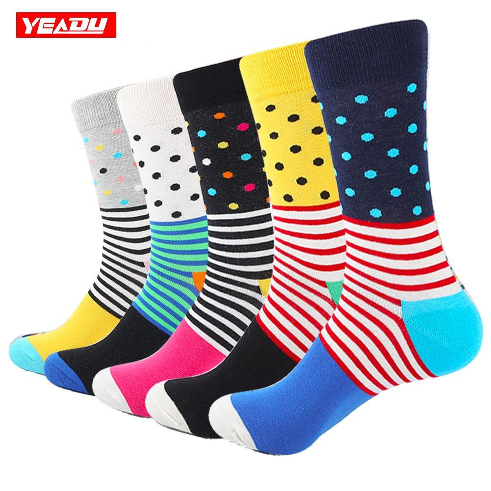 664e21d90 2019 YEADU Casual Mens Socks Chromatic Stripe Dots Of Socks Man With The  Final Design Clothing Fashion Designer Style From Fly181688