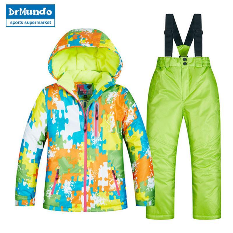 bba30b331 2019 2018 Children S Ski Wear Children S Windproof Waterproof Warm ...