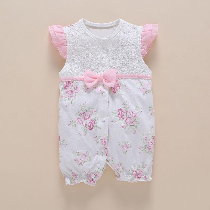 Sommer Neugeborenes Baby Mädchen Baumwolle Strampler Overall Outfit Kleidung