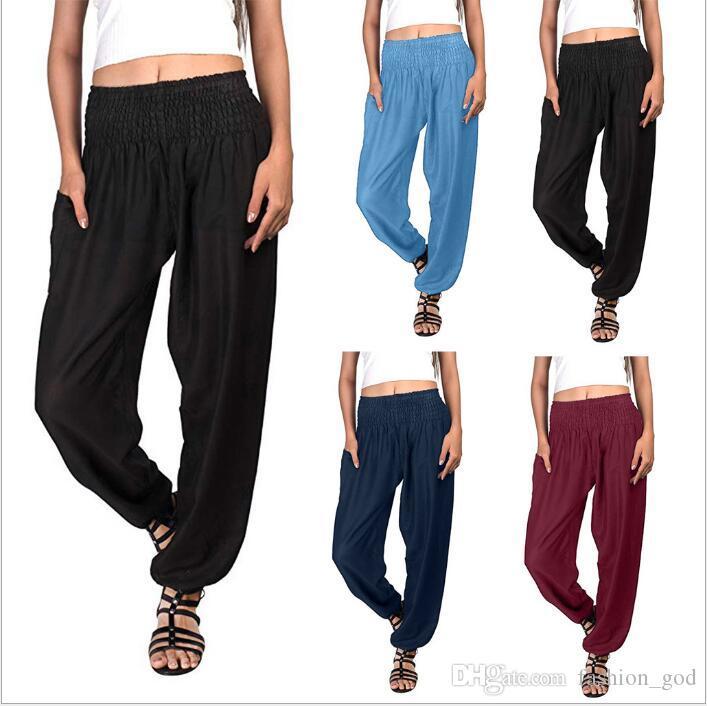 865cd5435e2ec Pants Women Slacks Pants Fashion Harem Pants Yoga Gym Flare Sports ...