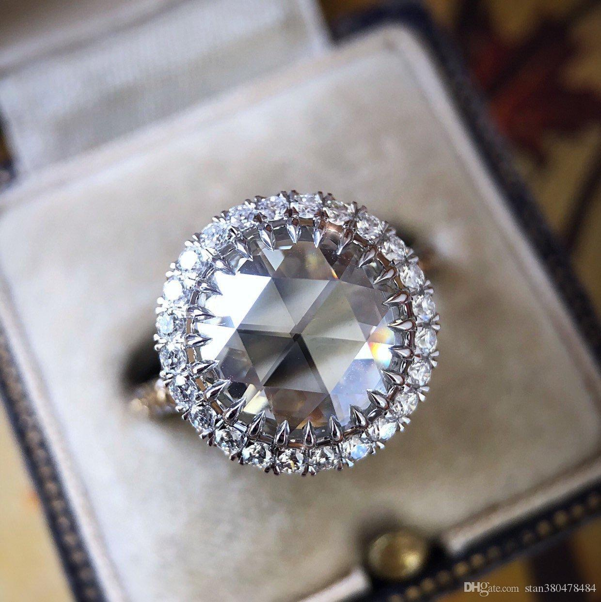 2019 New Carat Simulation Flash Diamond Ring Europe And America Vintage Big Engagement Lady Wedding From Stan380478484: The Flash Inspired Wedding Ring At Websimilar.org