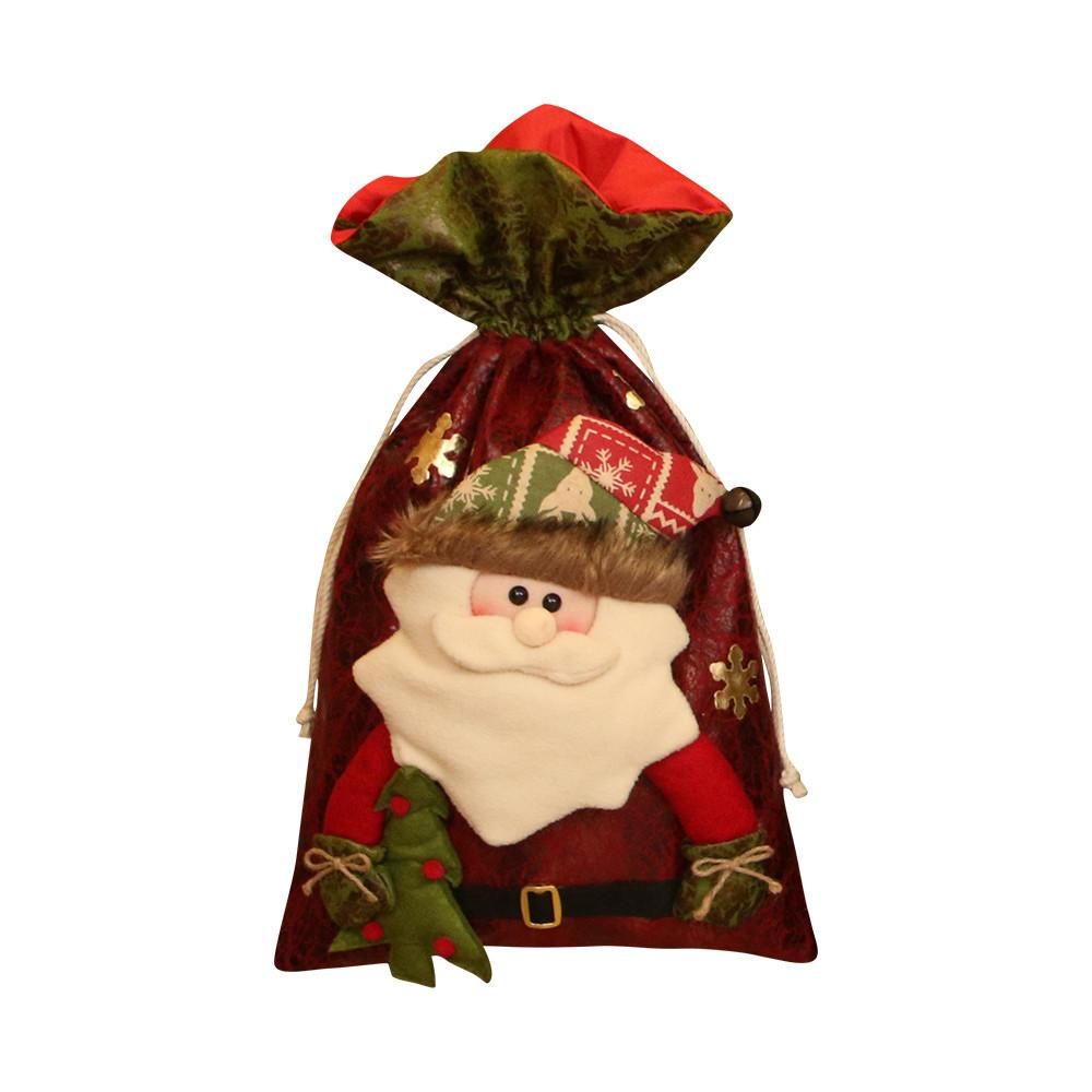 #25 Santa Claus Snowman Elk Christmas Candy Packaging Christmas Candy gift bag backpack bag decoration