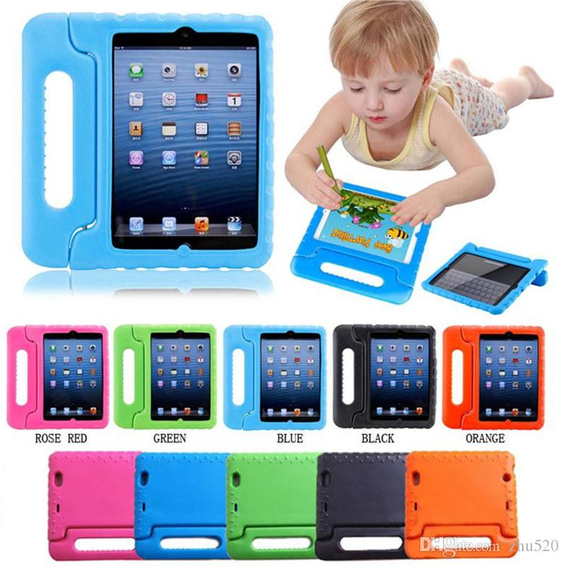 Kids Safe Soft EVA Light Foam Weight Shock Proof Handle Protective Case With Stand For iPad 2 3 4 Ipad Air 2 Mini ipad Pro