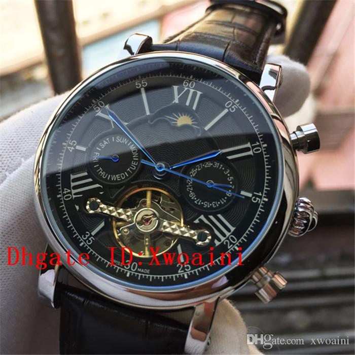 6383ec3af29 Top Swiss Brand Men Watches Automatic Mechanical Watch Tourbillon Sport Clock  Leather Casual Business Retro Wristwatch Relojes Hombre Online Watches  Diamond ...