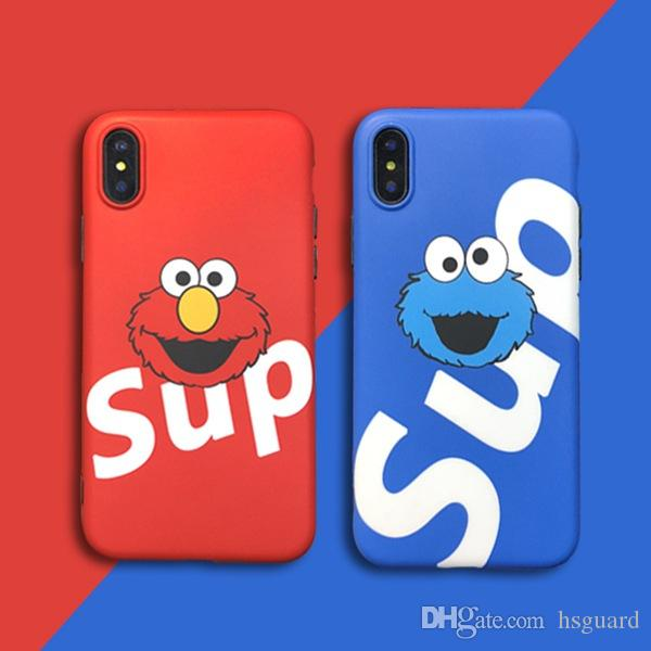 For Iphone Xr Xs Max Phone Case Sesame Trend Brand Cartoon 6 7 8 X Plus IDM Process Soft TPU Cell Phone Case