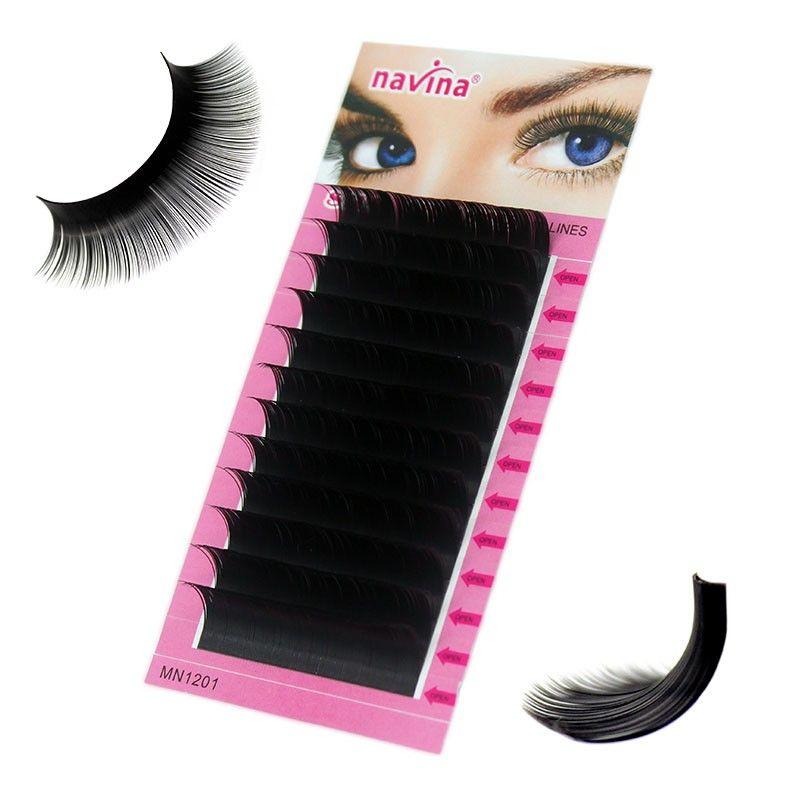 84141c42598 Navina 1pc Natural Faux Silk Eyelash Extension Russian Volume 3D Individual  Mink Eyelashes Makeup False Soft Lashes Fake Cilias
