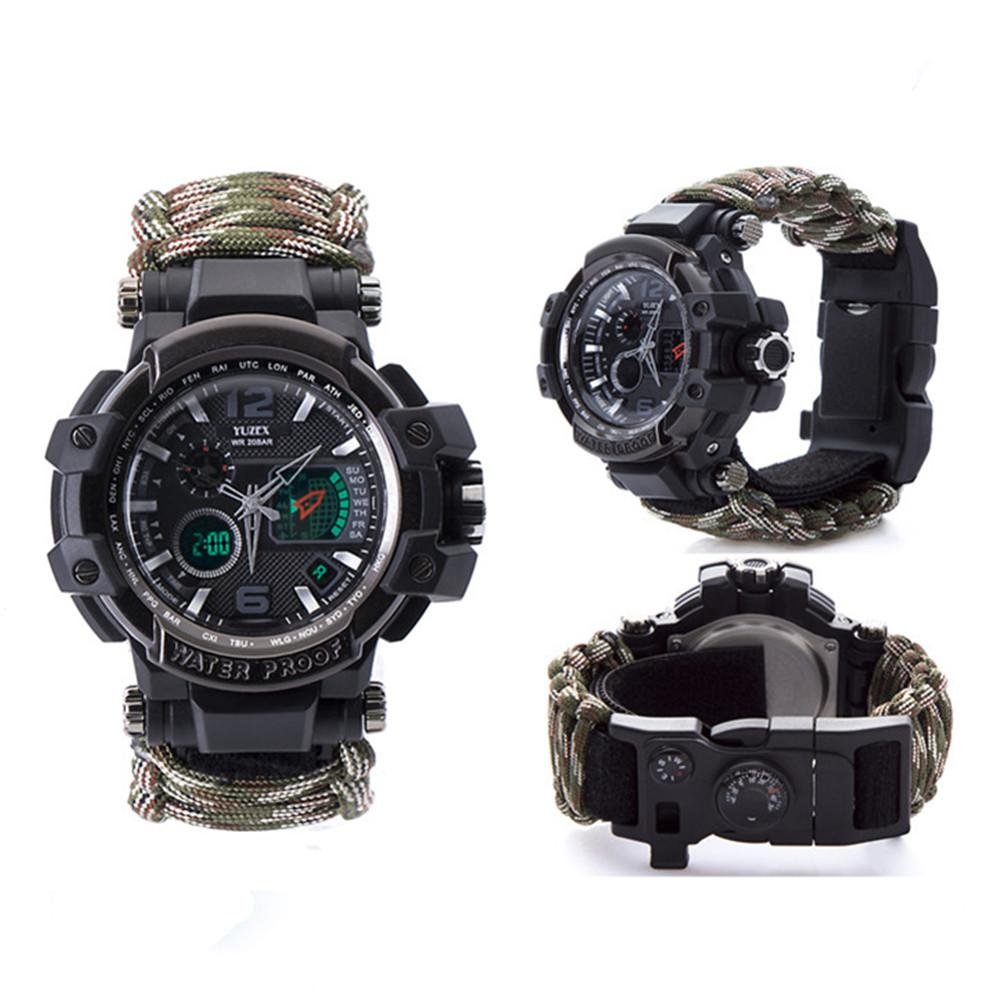New Outdoor Survival Watch Bracelet Multi-functional Waterproof 50M Watch For Men Women Camping Hiking Military Tactical Camping Tools (2)
