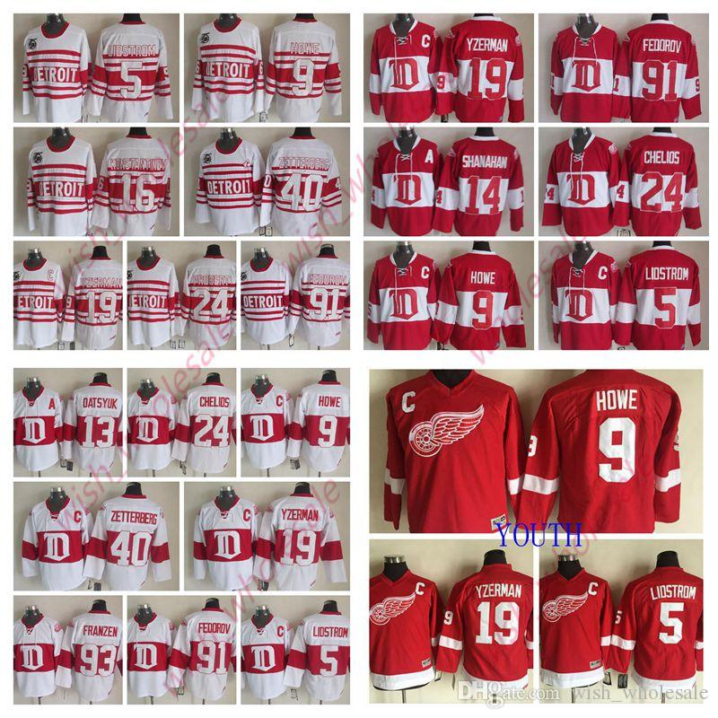 low priced c1175 393a5 CCM Detroit Red Wings Pavel Datsyuk Steve Yzerman Jersey Nicklas Lidstrom  Gordie Howe Brendan Shanahan Stitched Hockey Jerseys Man And Youth
