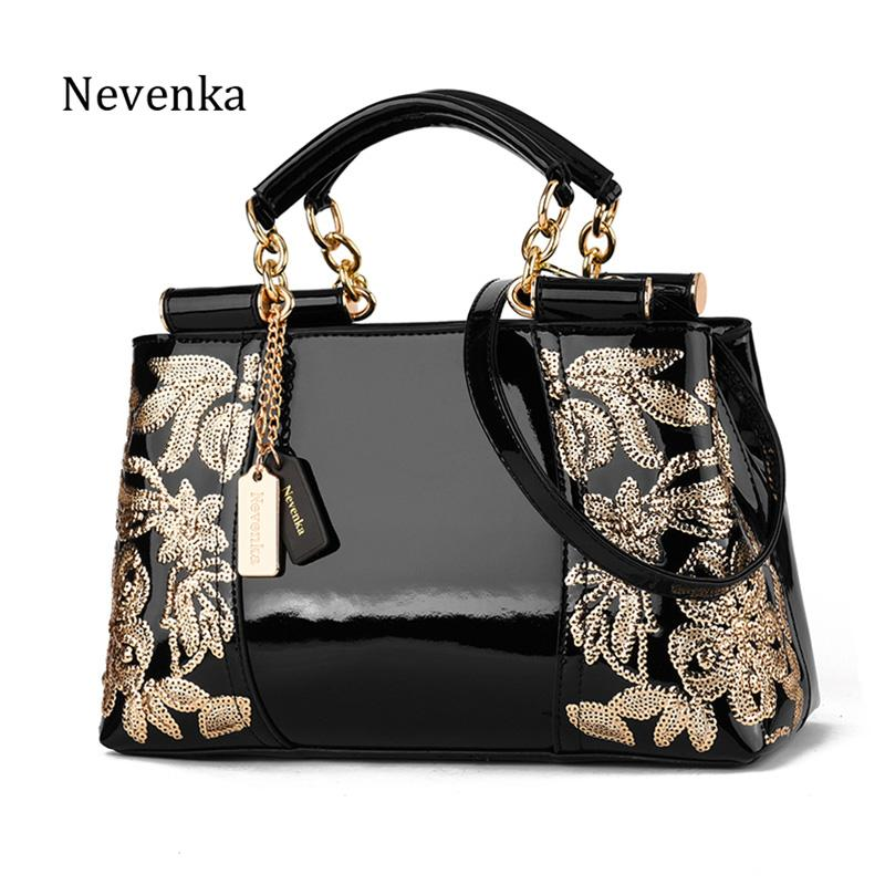 Nevenka Embroidery Handbag Women Evening Bags Patent Leather ... dc3d198b89c18