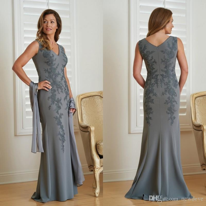 2019 Jasmine Jumpsuits Mother Of The Bride Dresses V Neck Appliques Evening  Gowns Cheap Wedding Guest Mother S Dresses Vestidos De Novia Mother Of The  Groom ... 3d47b0adf2de