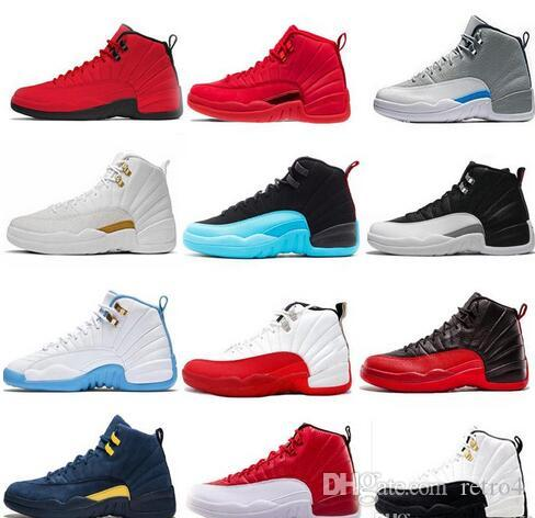 newest 2b6cd 9e5bf mens Basketball shoes 12 Jumpman 12s men shoe white black master GS Barons  Wolf Grey flu game taxi playoff french blue gym red Sneakers