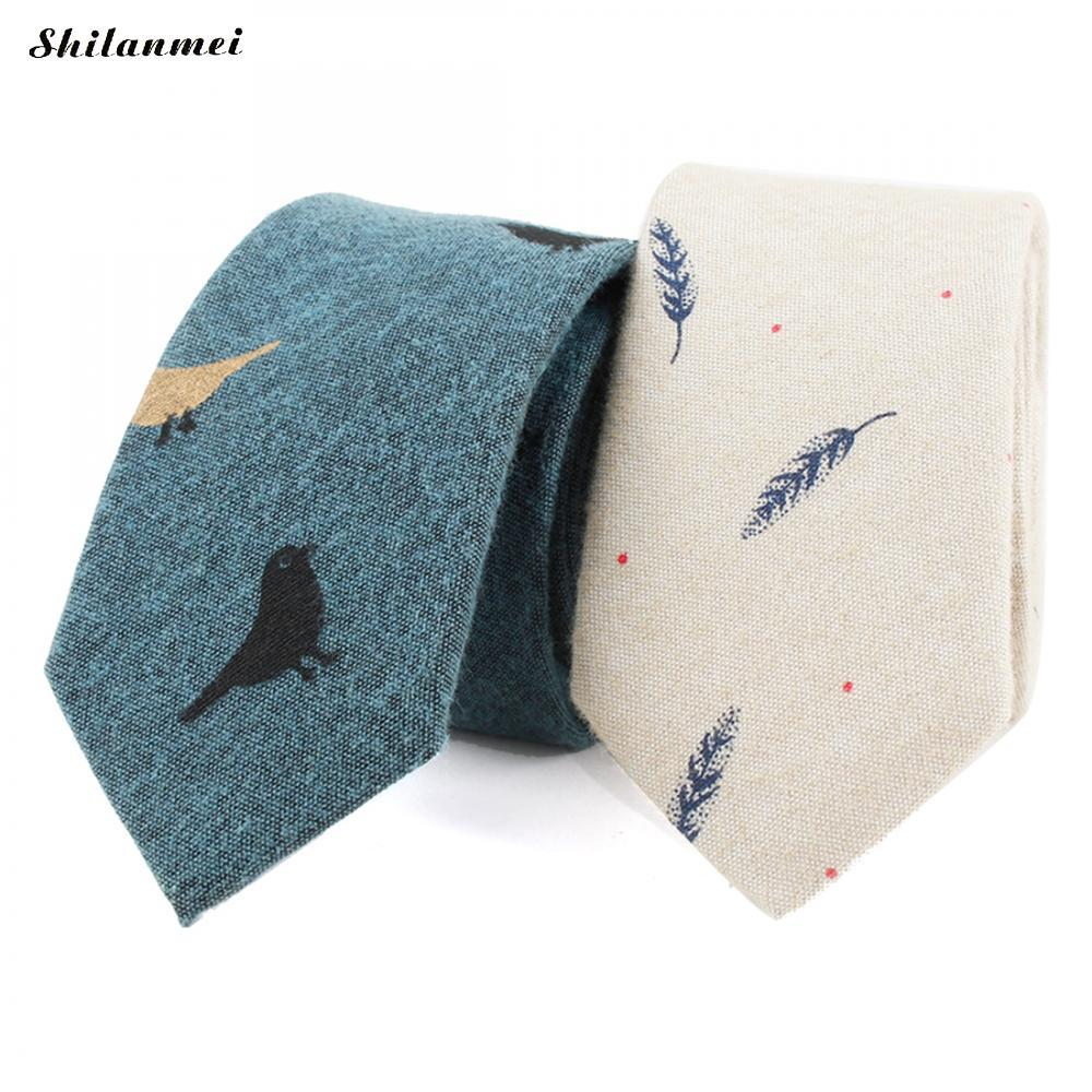 d5b63dde15f9 Fashion Ties for Men Cotton Narrow Tie Skinny Cravat Neckties for ...