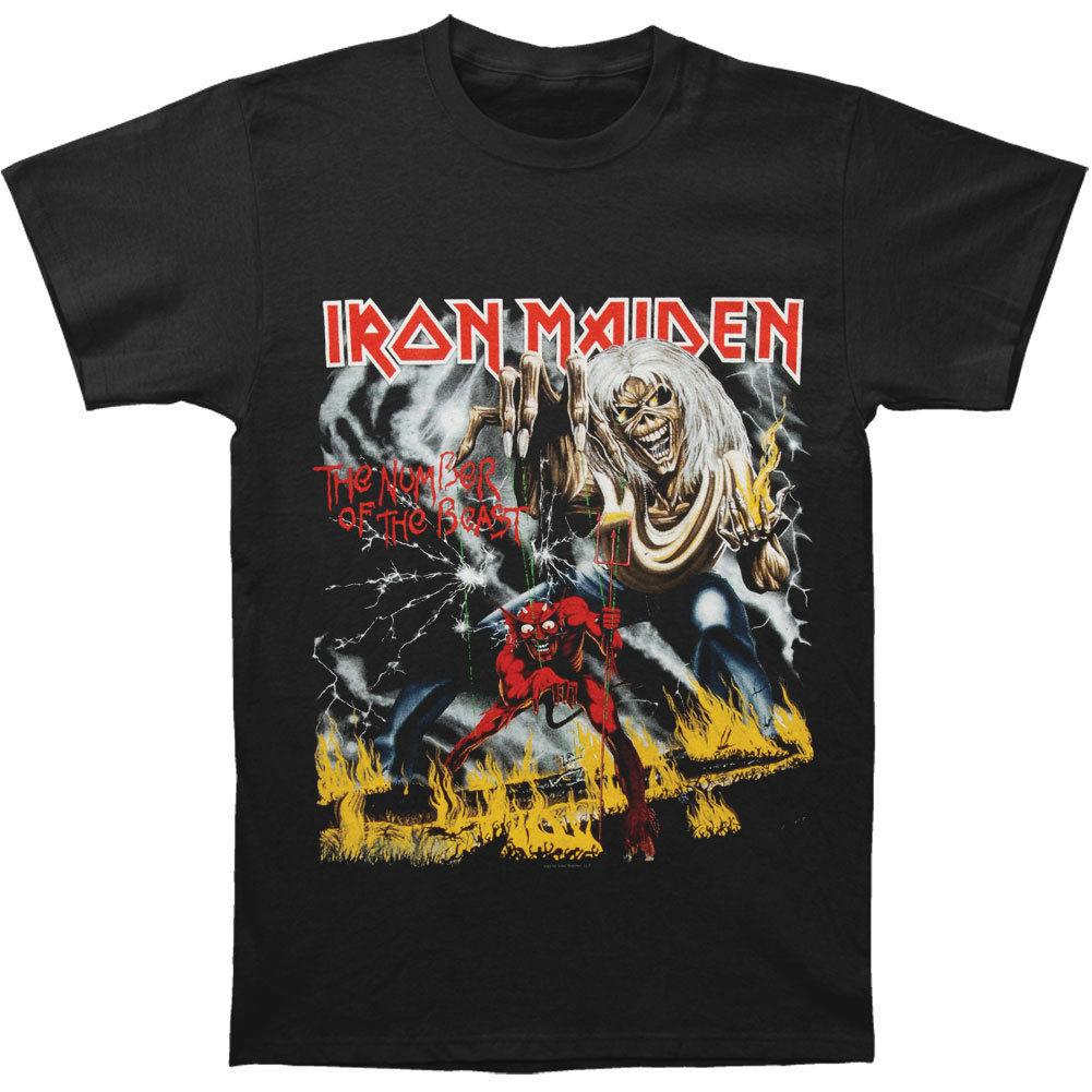6eabf7216872 Iron Maiden Men'S Number Of The Beast T Shirt Black Cotton Men T Shirts  Classical Top Tee Basic Models Tee Shirt T Shirt With Design It T Shirt  Design From ...