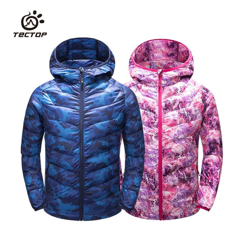 Tectop Autumn And Winter Camouflage Down Coat Paragraph Child ... 08f9fdf6e