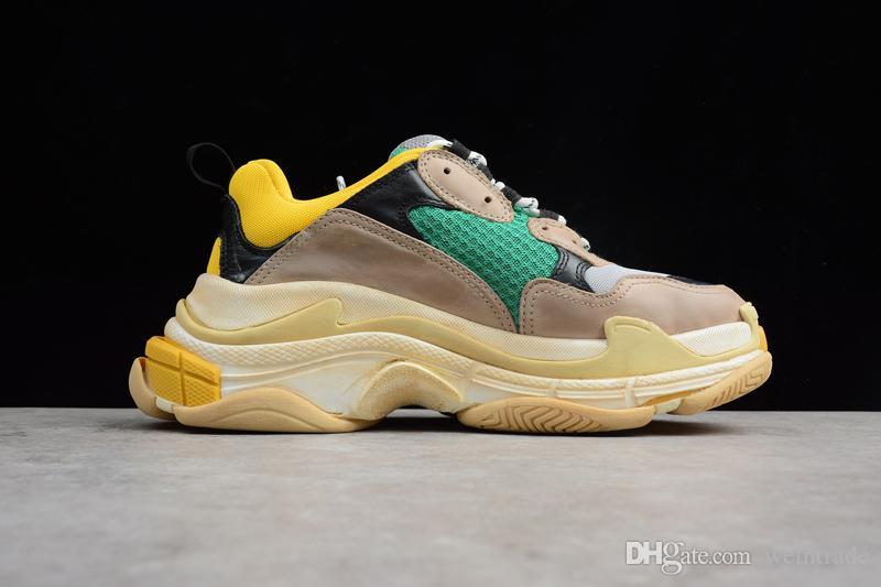 san francisco 23e64 17f18 Compre 2019 Nueva Llegada Balenciaga MG Triple S 17FW Zapatos Basketabll  Para Correr Mujeres Hombres Zapatillas De Deporte Originales Al Aire Libre  Tamaño ...
