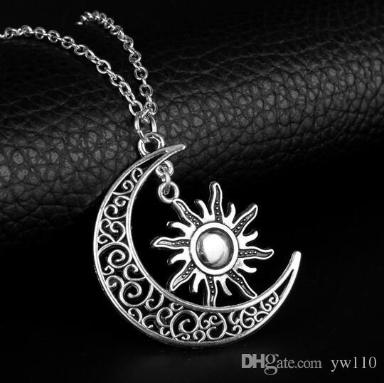 7df1e7d31f16 Compre Dongsheng Luna De Mi Vida Sol Y Estrellas Collares Pendientes  Khaleesi Nrcklace Juego De Tronos Collar Para Mujeres Niñas Regalo 30 A   20.0 Del Yw110 ...