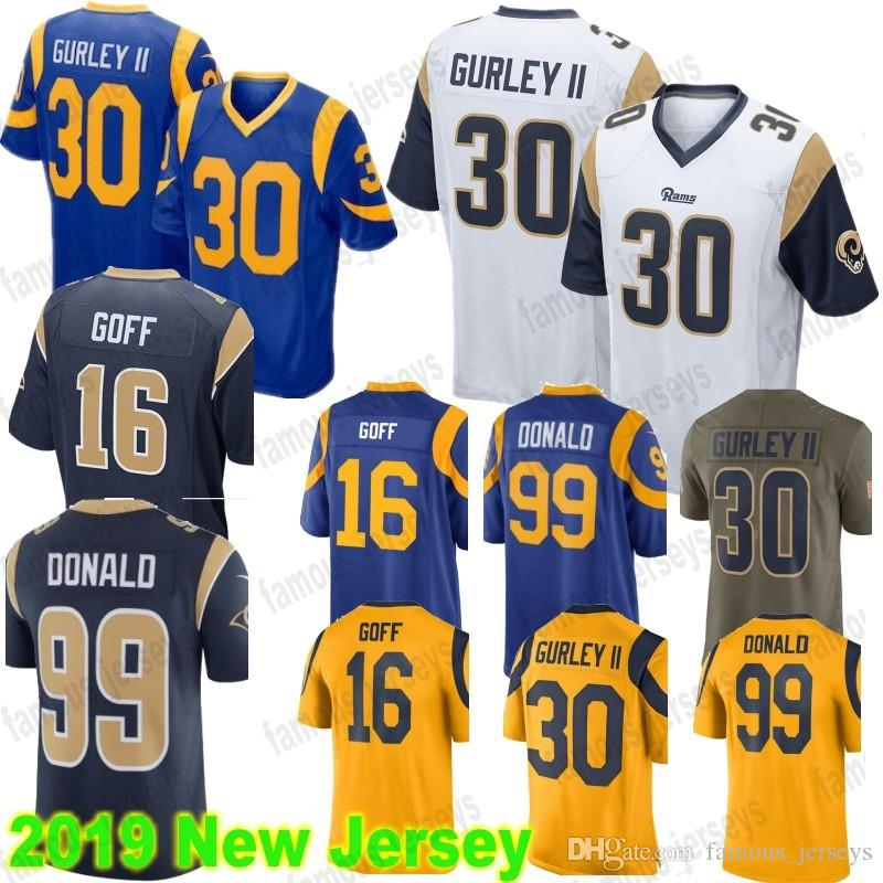 ... order 30 todd gurley jersey los angeles rams 16 jared goff 99 aaron  donald color rush 69c0ece17