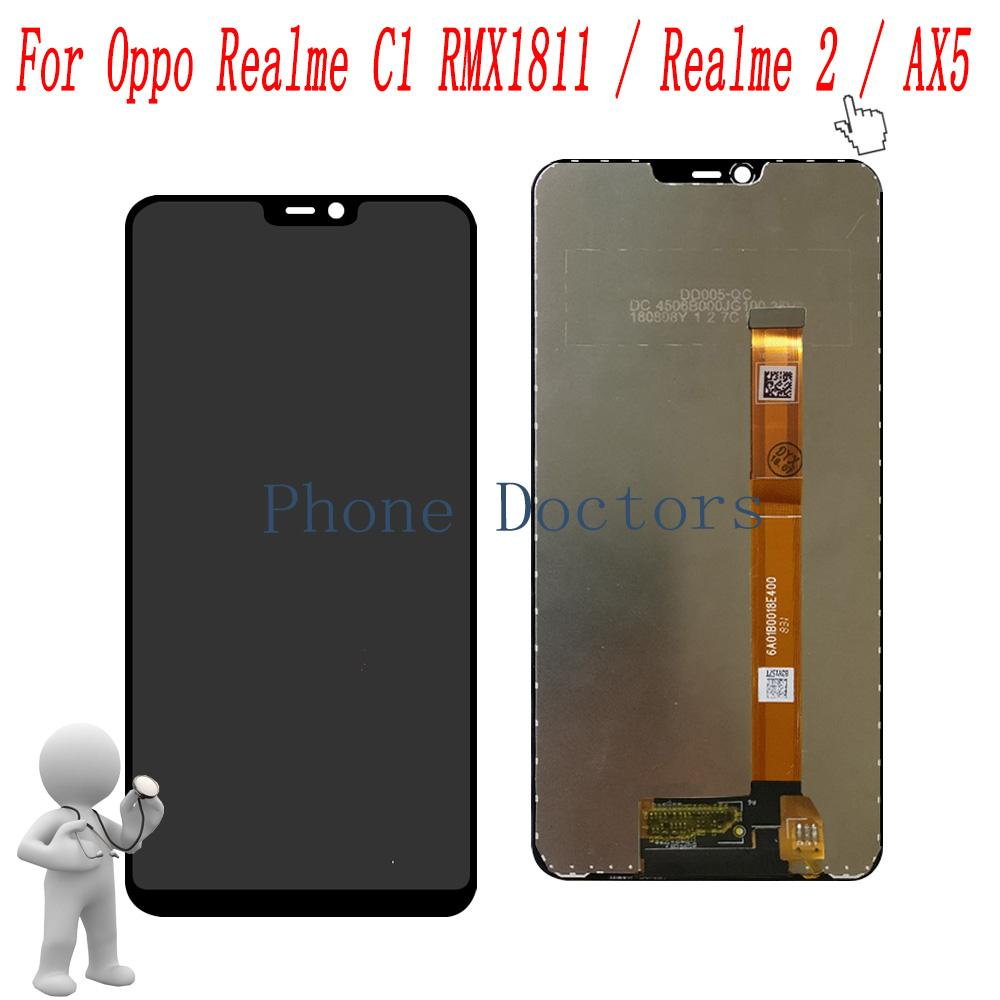 6 2 For Oppo AX5 CPH1851 Full LCD DIsplay Touch Screen Digitizer Assembly  For Oppo Realme C1 RMX1811 / Realme 2 / R15 Neo