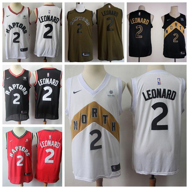 best website 0830f d5bb7 2019 New Mens Toronto Raptors 2 Kawhi Leonard Basketball Jerseys 100%  Stitched Raptors New City Edition Kawhi Leonard Basketball Jerseys
