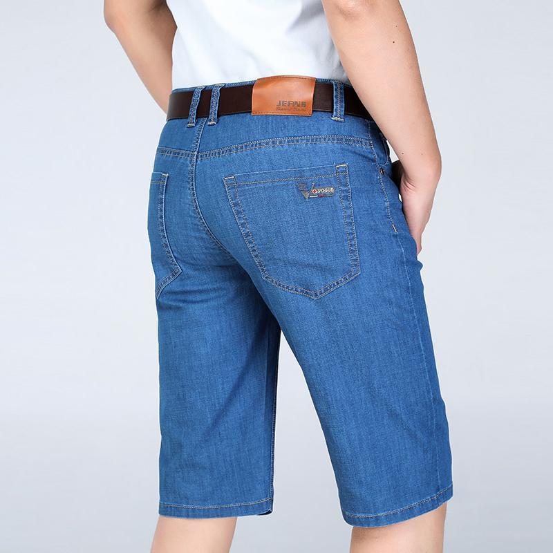 d0913109868a 2019 Nueva Moda para Hombre Pantalones Vaqueros Cortos Marca de Ropa  Bermudas Para Hombre Pantalones Cortos de Mezclilla Delgado Casual de  Verano ...
