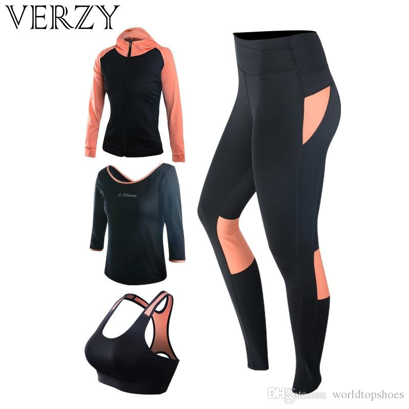 213f9723b60 New Yoga Set Women s Gym Clothes Black Sport Bra Pants T-Shirt Coat 4 Pcs  Fitness Running Sports Suit Breathable Sport Leggings #271092