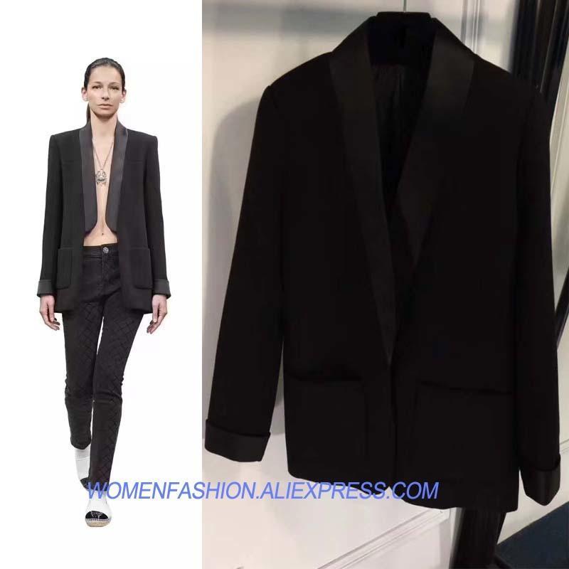Abrigo 2018 Mujer Costuras Otoño Compre Primavera Satinado Blazer 57nwOnTx