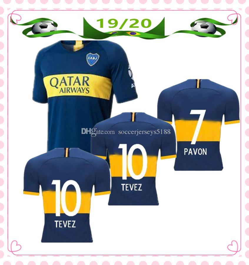 best cheap fa36a 6bdb0 New 2019 2020 Boca Juniors Home Soccer Jerseys 19/20 boca juniors jersey #7  PAVON #9 BENEDETTO #10 TEVEZ Soccer Shirt Football Uniforms