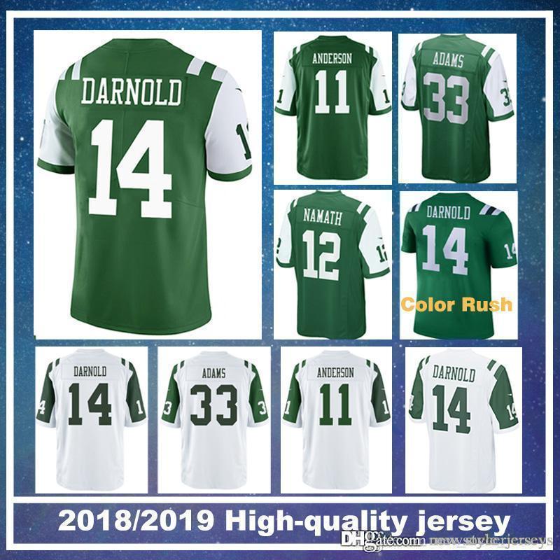 db806f15f19 2019 New York Jersey Jets 14 Sam Darnold Men 11 Robby Anderson 33 Jamal  Adams 12 Joe Namath Game American Football Jerseys From New_style_jerseys,  ...