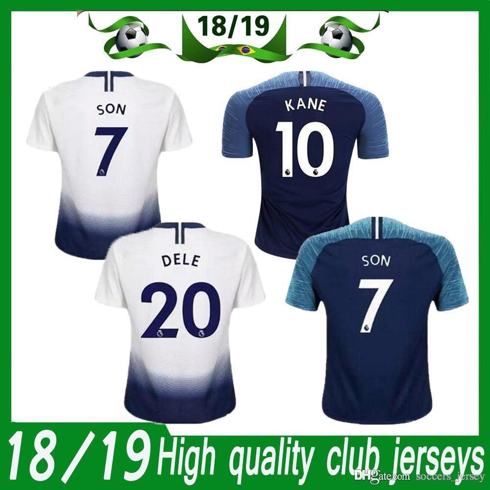 hot sales 82c58 afb91 KANE spurs Soccer Jersey 2018 2019 LAMELA ERIKSEN DELE SON jersey 18/19  Football kit shirt Men and KIDS KIT SET uniform