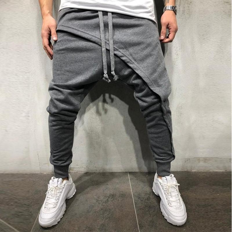 hip hop jogging pants Designer Joggers pants With Layered jogging pants slim casual drawstring trousers male