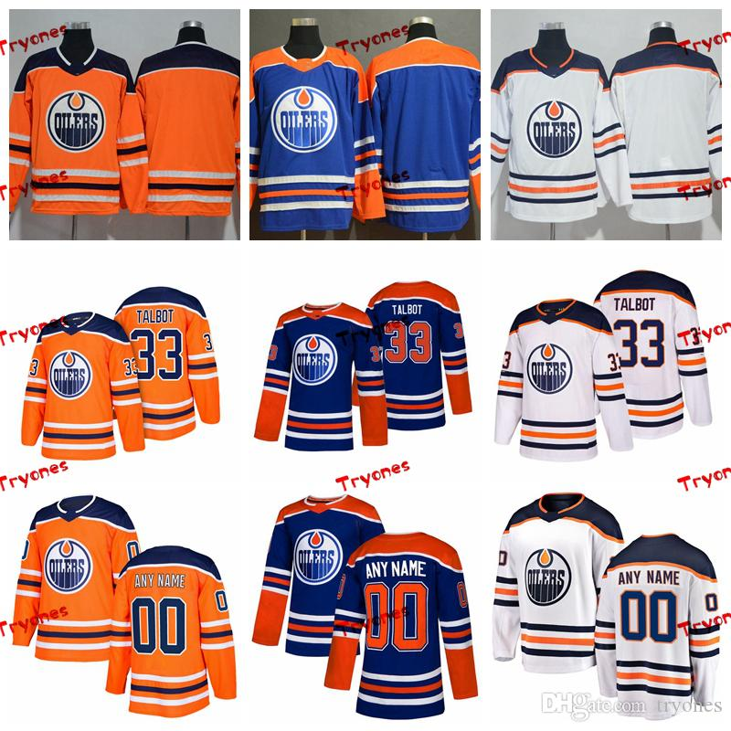 best authentic 7f285 21dc4 2019 Customize Cam Talbot Edmonton Oilers Stitched Jerseys Custom Alternate  Blue Shirts #33 Cam Talbot Hockey Jerseys S-XXXL