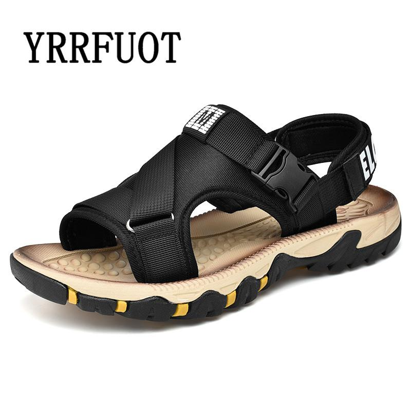 ca8195f77 YRRFUOT 2019 Summer Men  Outdoor Sandals High Quality Breathable  Comfortable Adult Flats Non Slip Hot Sale Men Trend Beach Shoes Wedge Heels  Pink Shoes From ...