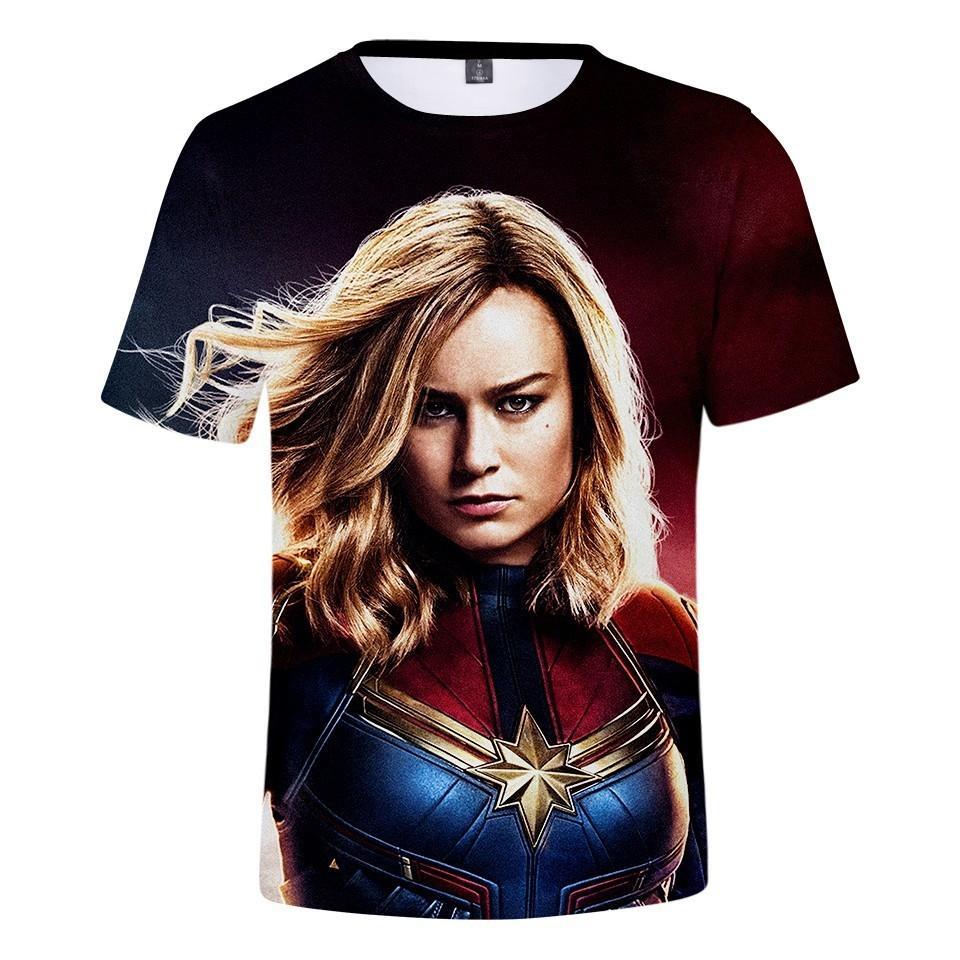 21848b4e350e Carol Danvers Captain Marvel America 2019 T Shirt Mma Men/Women Shirts T  Shirt Harajuku Funny Tops Short Sleeve Oversize Cool T Shirts Buy Online  Raid Shirt ...