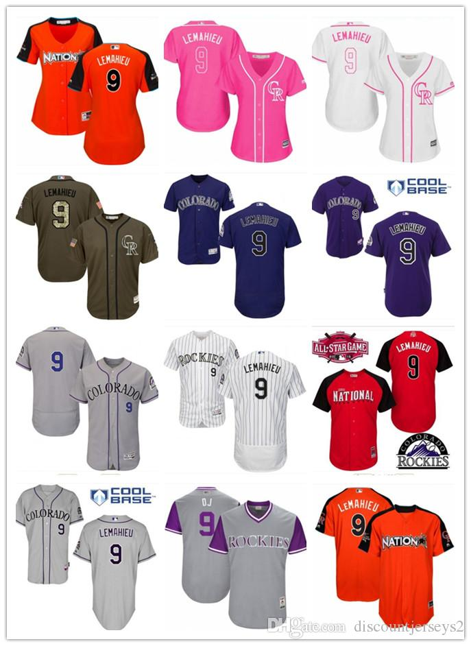 check out bca8a e977b 2019 top Rockies Jerseys # 9 DJ LeMahieu Jerseys men#WOMEN#YOUTH#Men s  Baseball Jersey Majestic Stitched Professional sportswear