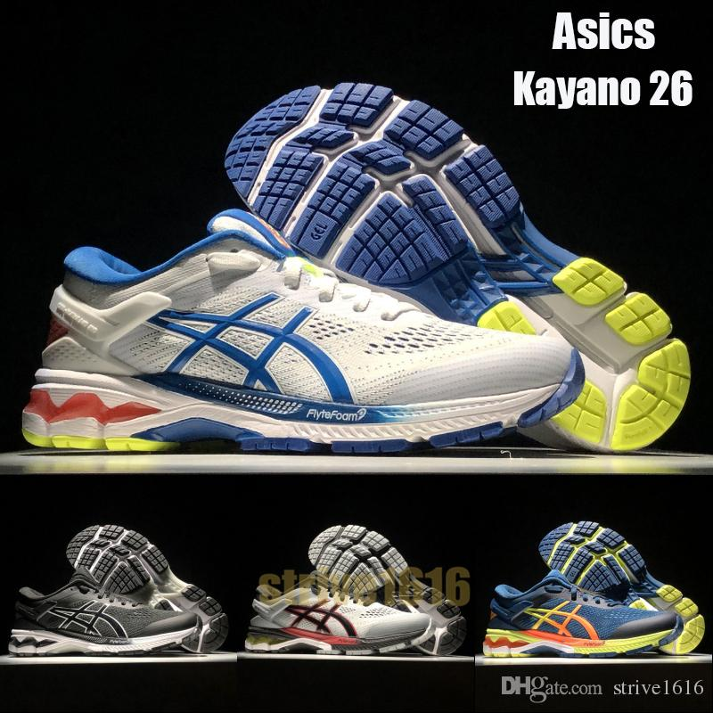 Asics Kayano 26 Hommes Chaussures De Course Designer Baskets Baskets Nouveauté Respirant Chaussures De Sport En Plein Air Taille 40 45