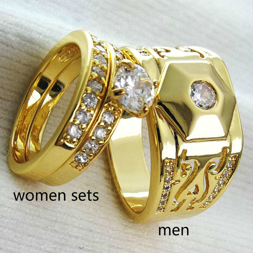 98919f15e1f7 Compre Anillos De Boda O Compromiso. Oro Amarillo De 18 Quilates ...