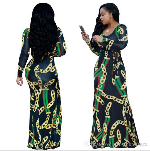 ff28687557 Compre Tradicional Africano Clothing Africaine Impressão Dashiki Dress Vintage  Mulheres Floral Impressão Sexy Bohemian Maxi Vestidos De Besttbuy, ...