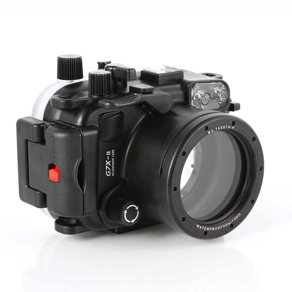 Waterpro Meikon Diving Underwater Housing Diving Case for Canon G7X Mark II WP-DC54 G7X-2