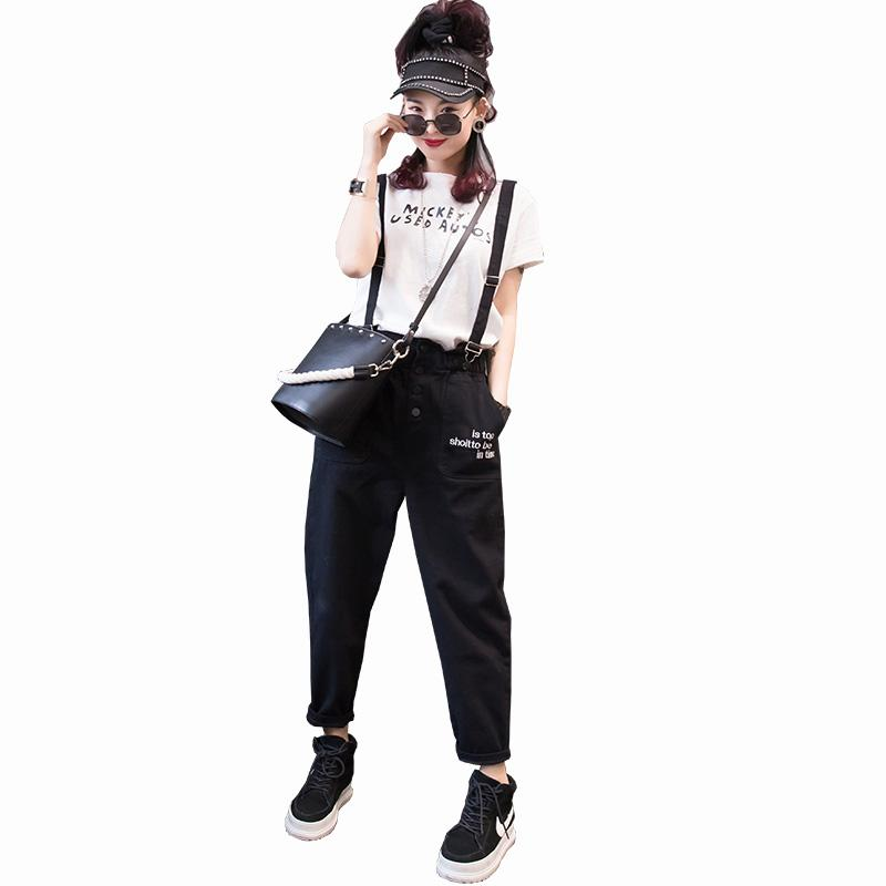 High Waist Detachable Bib Pants Woman 2019 Loose Harem Pants Elastic Waist Ankle-Length Slim Rompers Women Jumpsuit TY016