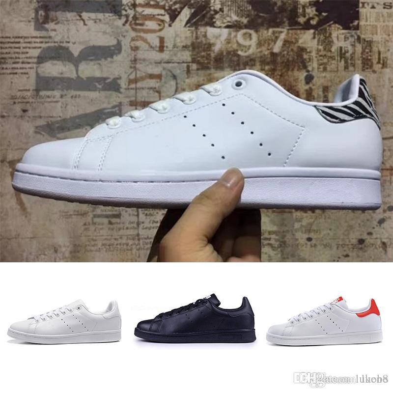 d559c8ea517 With Box 2019 Top Quality Women Men New Stan Shoes Fashion Smith Sneakers  Casual Shoes Leather Sport Classic Flats 5 11 Boat Shoes Shoes For Men From  Luen8
